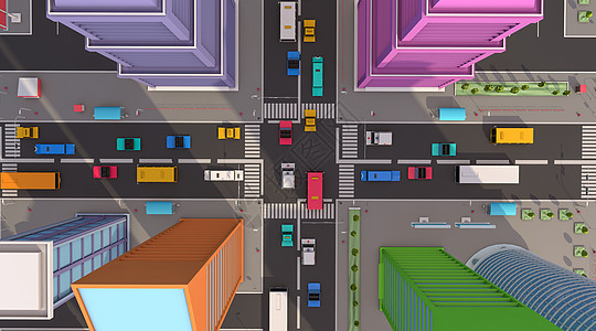 卡通城市道路交通图片