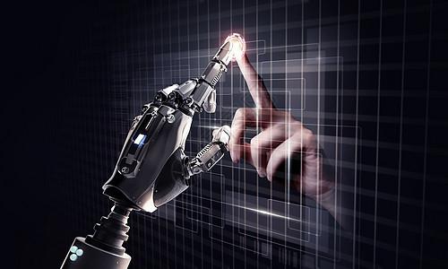 触碰机械手图片