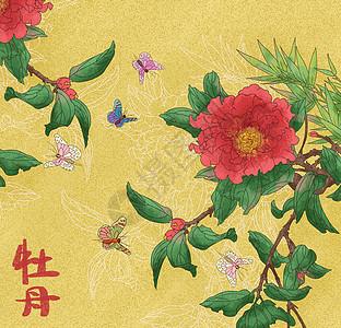 中国风花卉牡丹图图片
