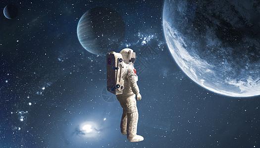 宇航员太空探险图片