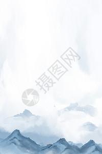清新水墨背景图片