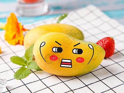 发火的芒果图片