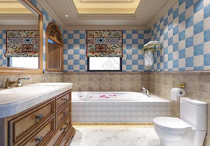 美式复古浴室图片