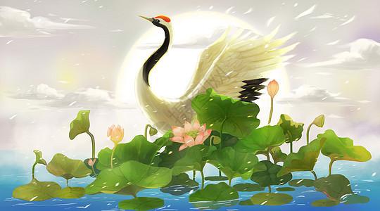 仙鹤图图片