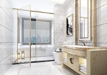 现代简约浴室图片