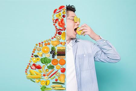 蔬菜水果有益健康图片