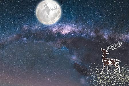 月夜下的思念图片