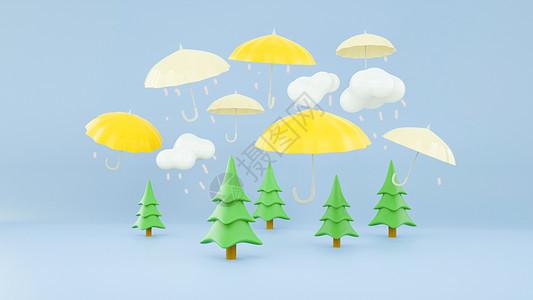 创意雨滴飘落图片