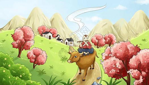 清明放牛牧童图片