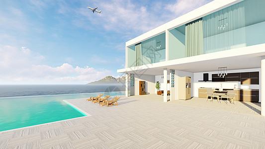 游泳池休闲白色别墅图片