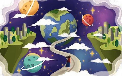 卡通风世界地球日图片