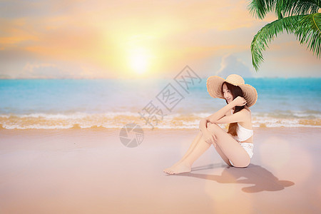 泳装美女旅游图片
