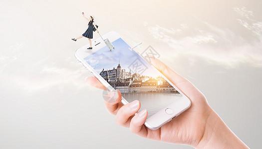 手机里的旅行图片
