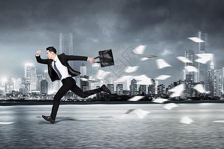 商务男性奔跑图片