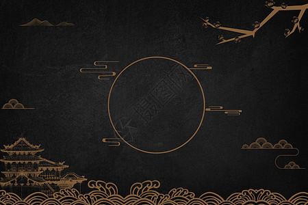 中国风线条背景图片