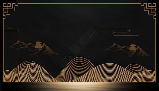 中国风纹理线条图片