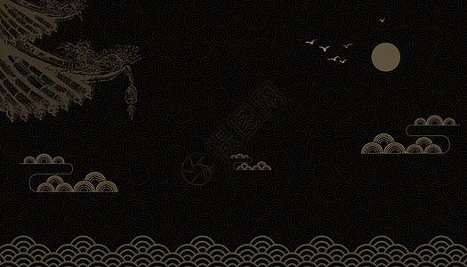 黑金复古纹理背景图片