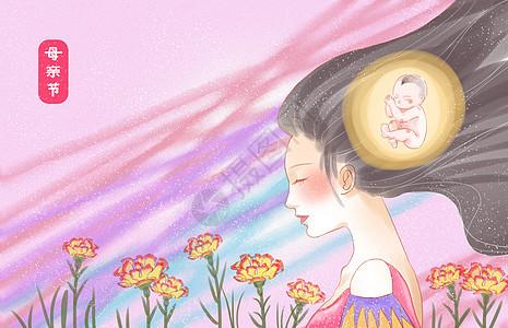 母亲节主题温馨壁纸海报图片