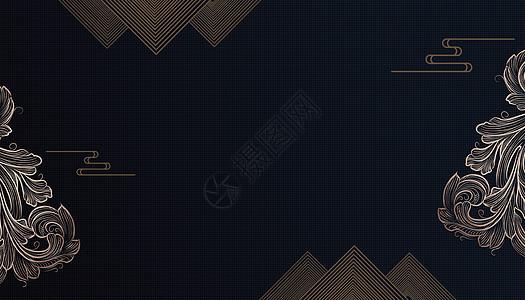 简约中式背景图片