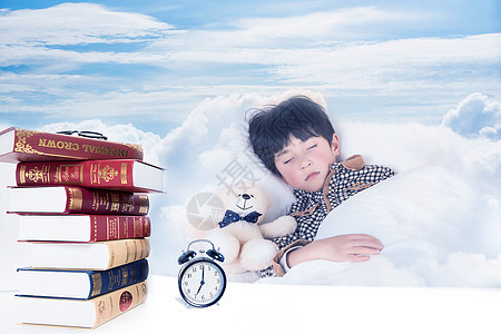 儿童在云端睡眠图片