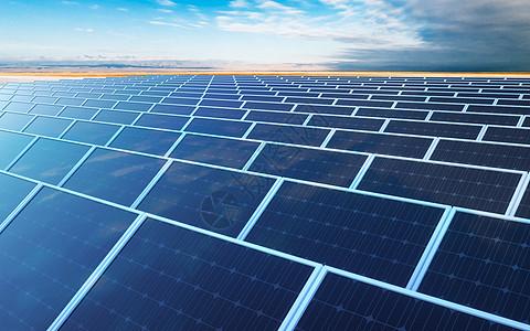 太阳能板发电场景图片