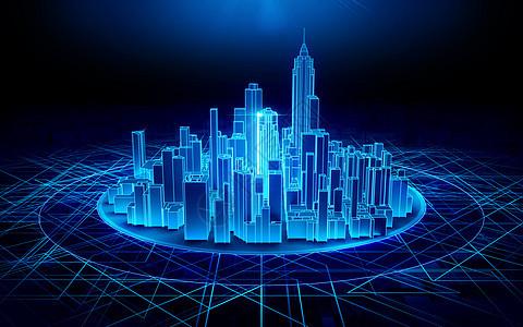 科技光线城市建筑空间图片