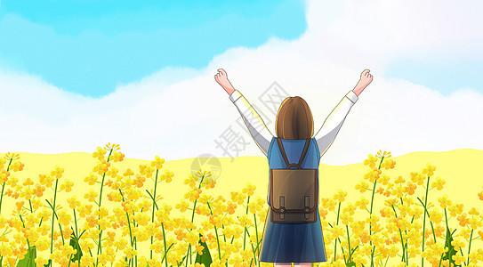 春天油菜花地图片