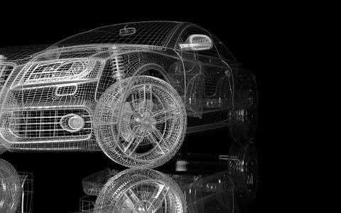 炫酷汽车结构空间图片