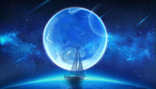 星球尽头的小船图片