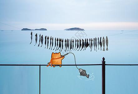 创意鱼干图片