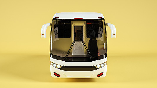 巴士车样机场景图片