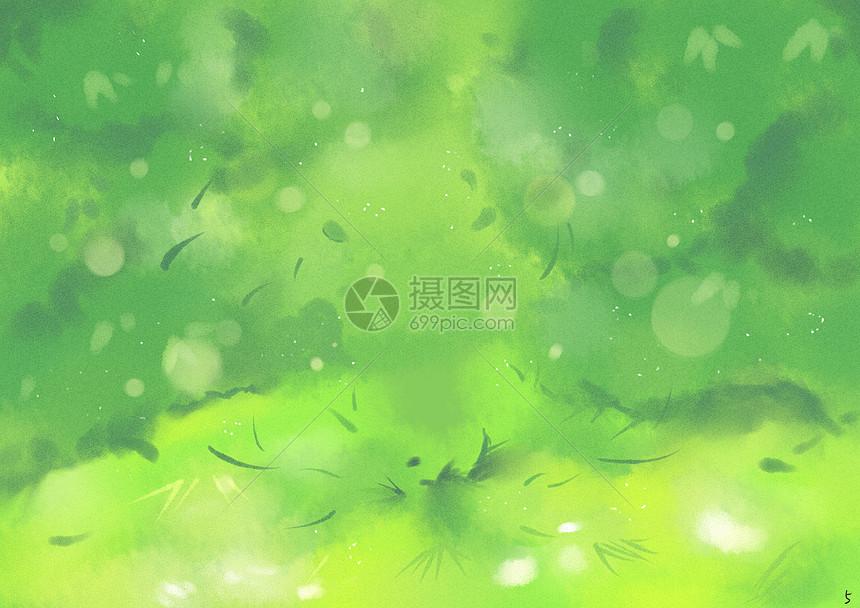 水彩绿色背景图片