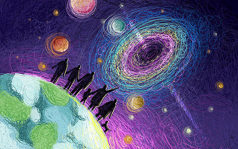 宇宙黑洞图片