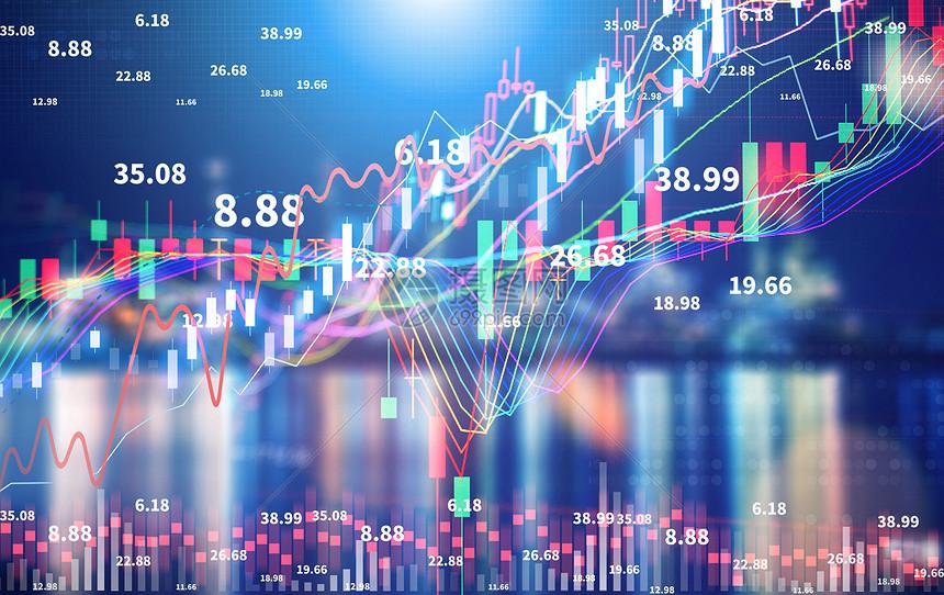 金融曲线场景图片