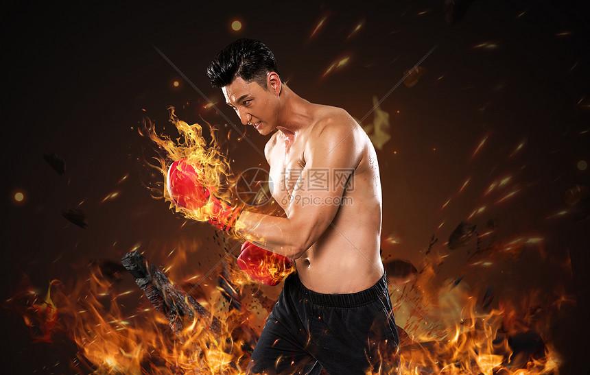 烈焰拳击图片