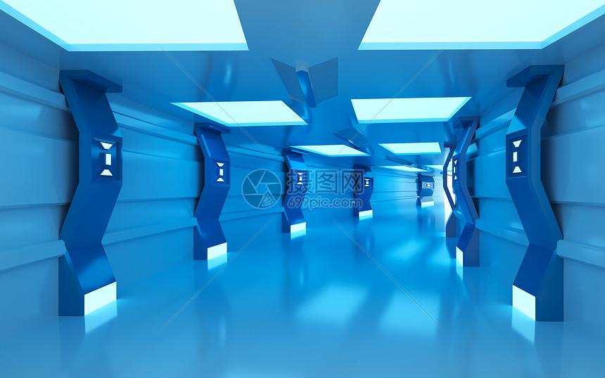 科幻隧道图片