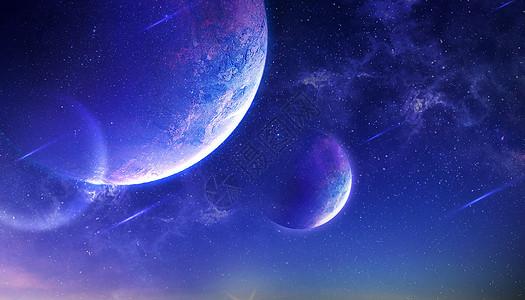 梦幻紫色星球图片