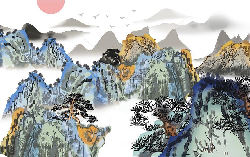 国风之山水水墨图片