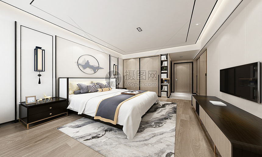 后现代卧室图片
