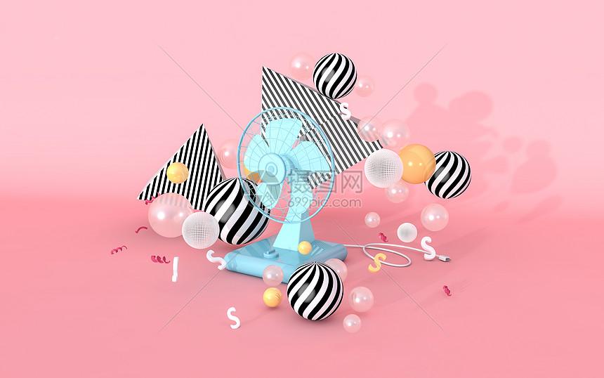 创意三维漂浮场景图片
