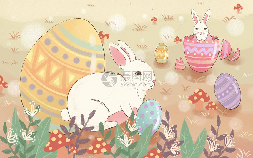 复活节彩蛋兔子图片