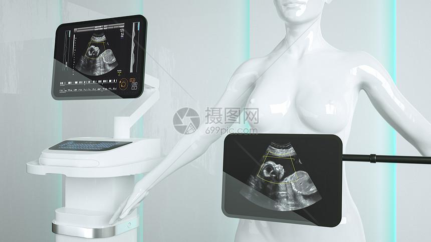 医疗器械超声波扫描场景图片