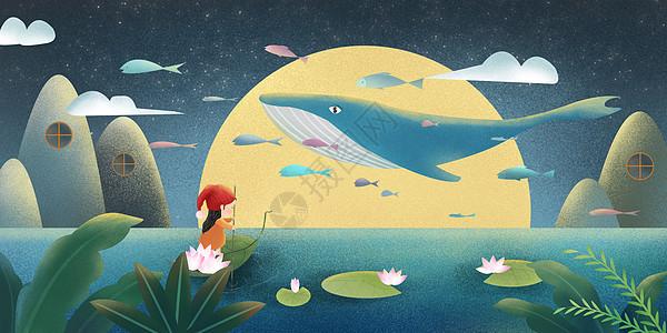 梦游女孩与鲸鱼图片