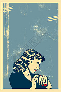 复古欧美海报背景图片