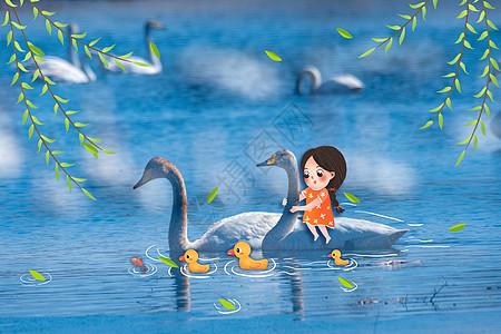 创意春天春江水暖鸭先知图片