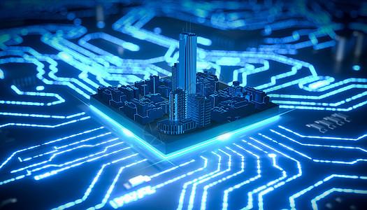 科幻城市芯片图片