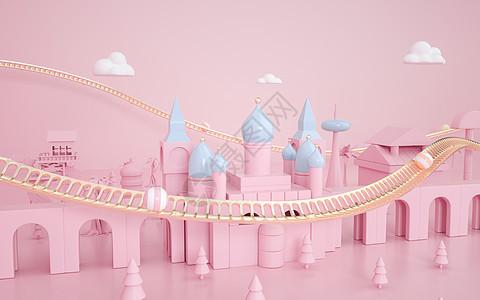 粉嫩城堡空间图片