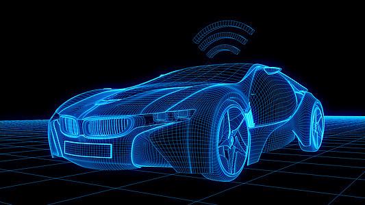 人工智能自动驾驶汽车场景图片