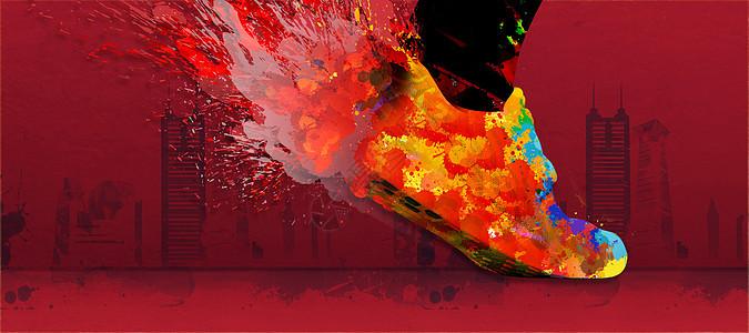 喷溅主题鞋子图片