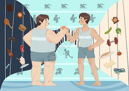 肥胖与健壮图片